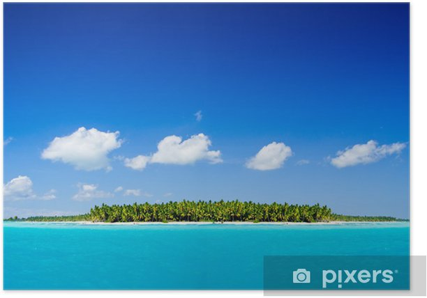 Poster Mare tropicale - Isole