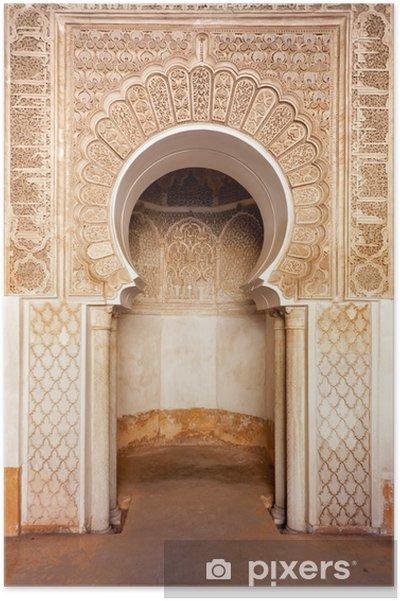 Poster Marrakech madrasah ornamento - Africa
