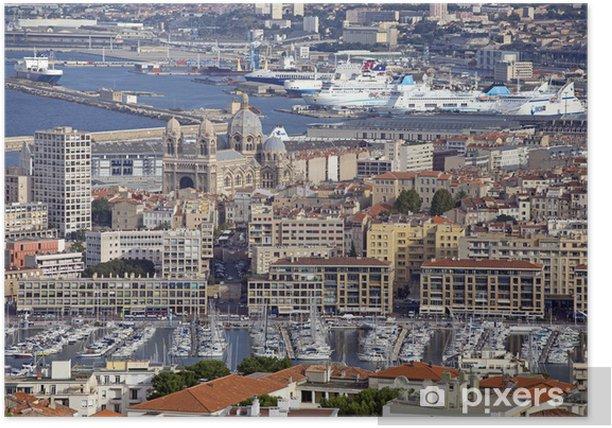 Poster Marseille Stadt - Europa