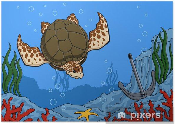 Poster Meeresschildkröte - Andere Andere