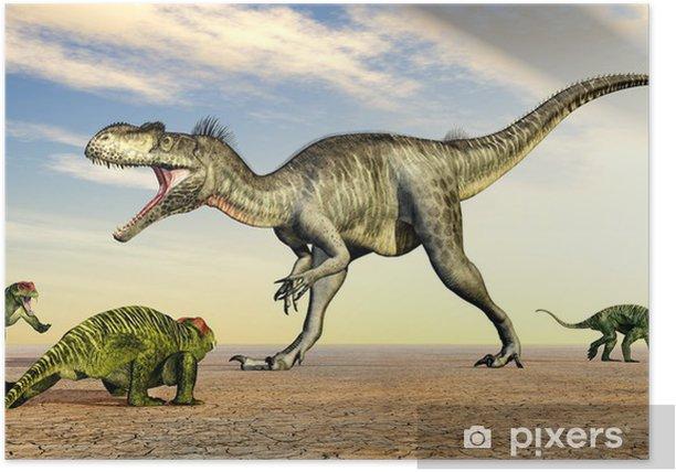 Poster Megalosaurus und Doliosauriscus - Themen
