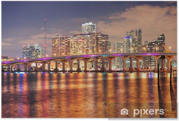 Poster Miami Nachtszene - Themen