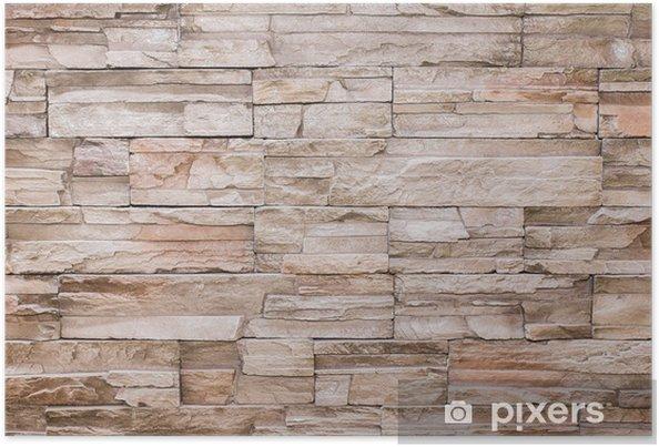 Poster Moderne Stein-Ziegel Textur Hintergrund Wand - Stile