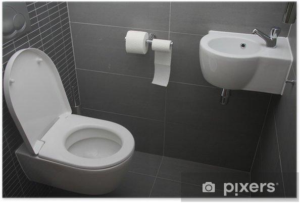 Poster Moderne Toilette