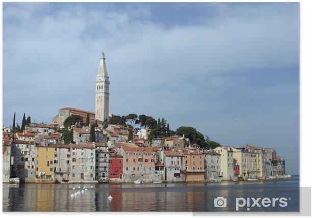 Poster Morgen in Rovinj, Istrien, Kroatien - Europa