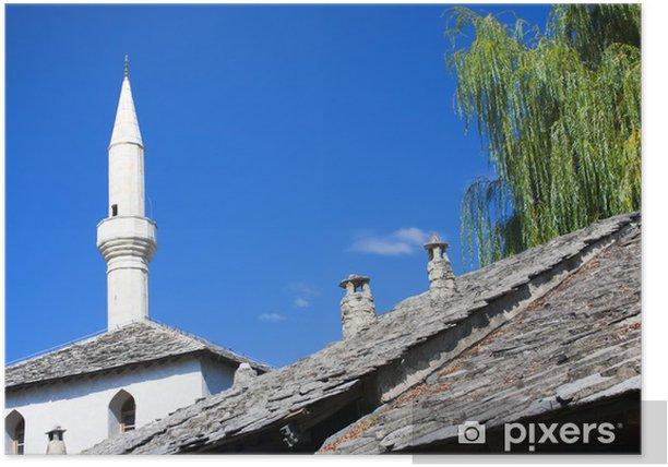 Poster Mostar Moschee - Europa
