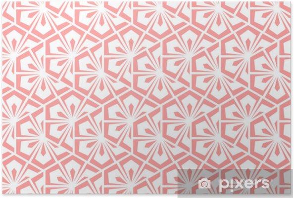 Poster Motivo Geometrico A Fiore Sfondo Vettoriale Senza Soluzione