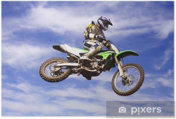 Poster Moto Cross Springen