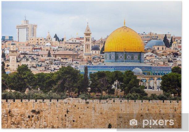 Poster Mousque von Al-Aqsa in der Altstadt - Jerusalem, Israel - Naher Osten