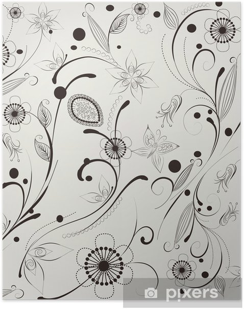 Poster Muster Blume - Hintergründe