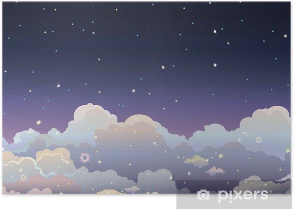 Poster Nacht Sternenhimmel. - Himmel