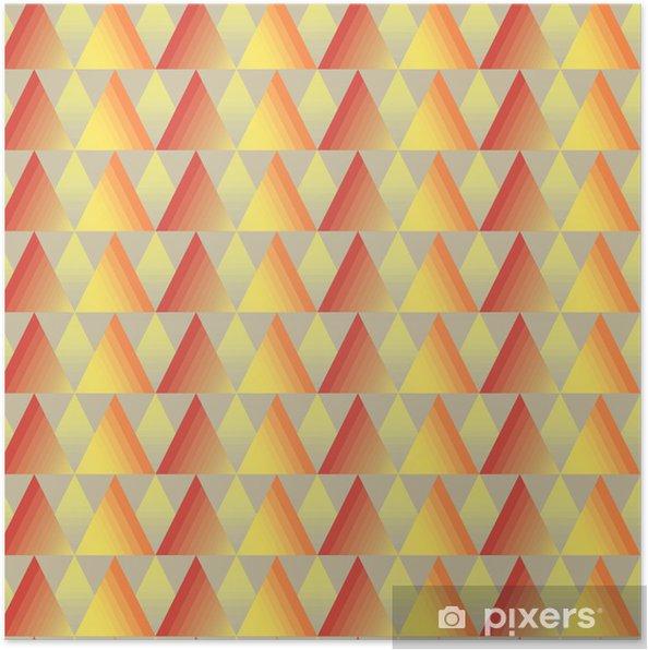 Poster Nahtlose Dreieck Hintergrund - Kunst und Gestaltung
