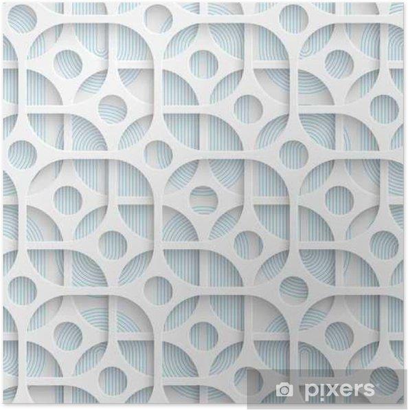 Poster Nahtlose Kreis Und Quadrat Design. Futuristische Fliesen Muster