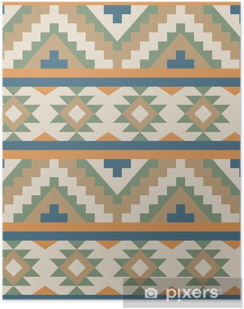 Poster Nahtlose Muster in navajo Stil - Stile