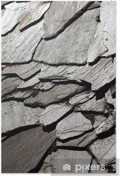 Poster Natürliche Muster einer Steinmauer - Themen