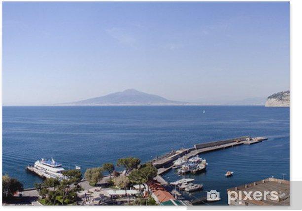 Poster Neapel Ansicht vom Hafen von Sorrent - Wasser