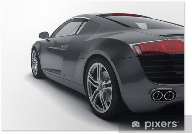 Poster Nero auto sportive - Temi