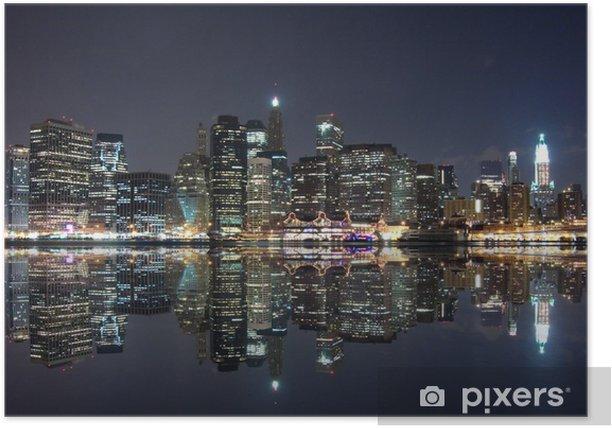 Poster New york bei nacht - Themen