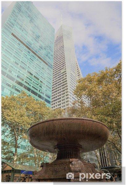 Poster New York - Bryant Park - Amerikanische Städte