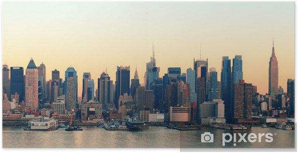 Poster New York City sunset - Themen