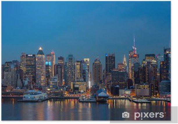 Poster New York Panorama auf Tag des Präsidenten. - New York