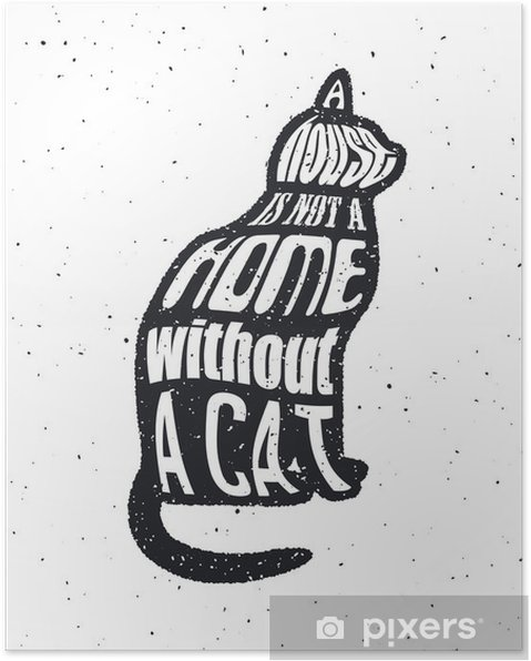 Poster Nie einem Mann vertrauen, der wie Katzen tut. - Grafische Elemente