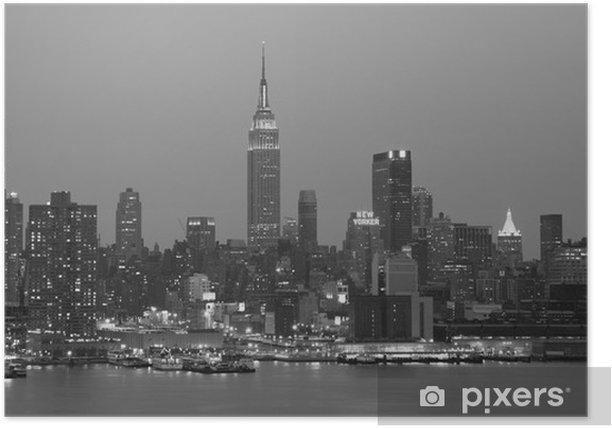 Poster Nightime New York City - New York