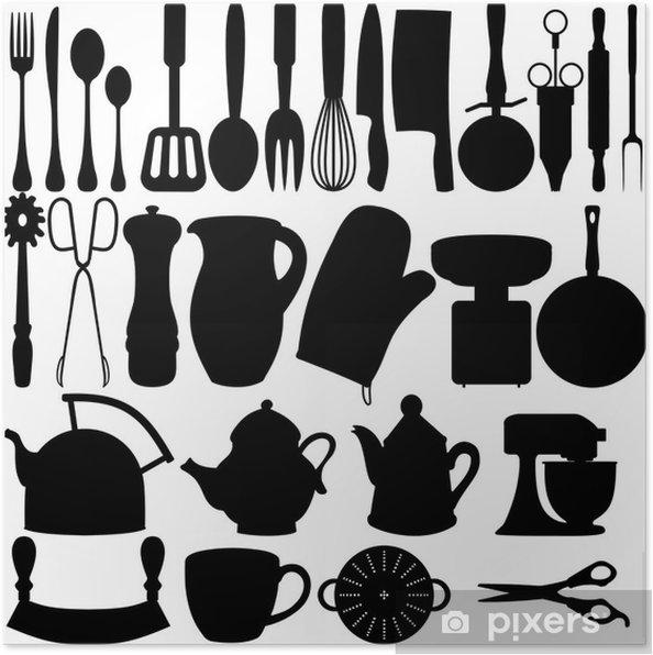 Poster Oggetti da cucina • Pixers® - Viviamo per il cambiamento