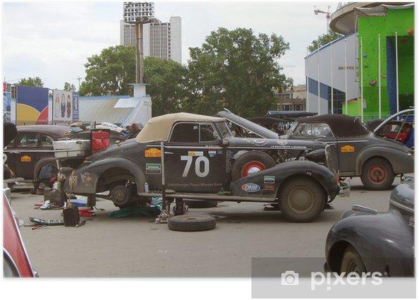 Poster Oldtimer-Rallye - Straßenverkehr