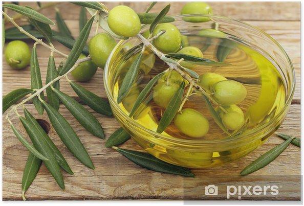 Poster Olivenöl und Oliven - Oliven