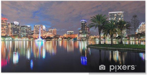 Poster Orlando Nacht-Panorama - Amerika