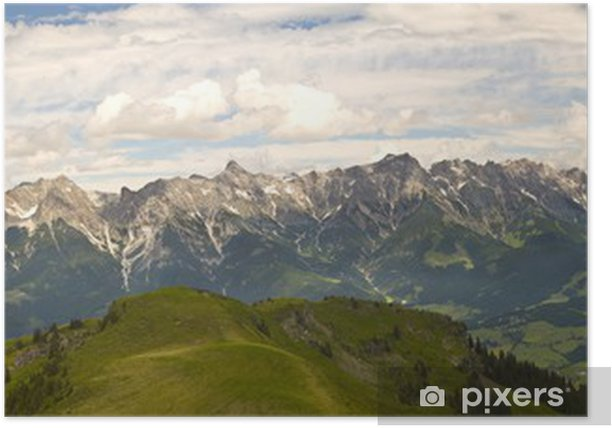Poster Österreichische Landschaft - Berge