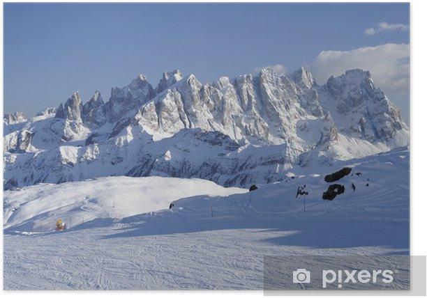 Poster Pale Bereich und Skigebiet, Dolomiten - Europa