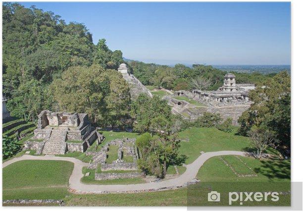 Poster Palenque, Mexiko - Amerika
