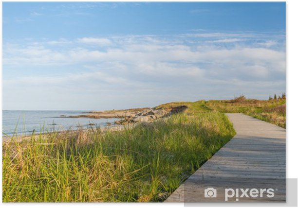 Poster Panorama von Holz-Pfad auf dem Strand - Themen