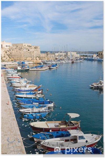 Poster Panoramic view of Gallipoli. Puglia. Italy. - Vacanze