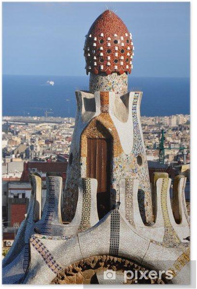 Poster Parc Güell, Barcelona - Europäische Städte