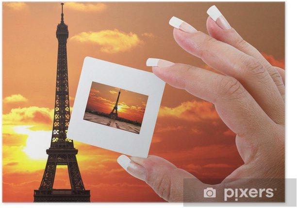 Poster Paris eine Rutsche - Europäische Städte