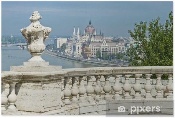 Poster Parlamentsgebäude in Budapest, Ungarn - Europa