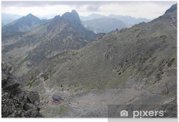 Poster Peak und ein Chalet Landschaft - Themen