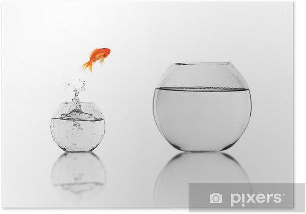 Poster Pesce d'oro in un acquario - Sottomarino