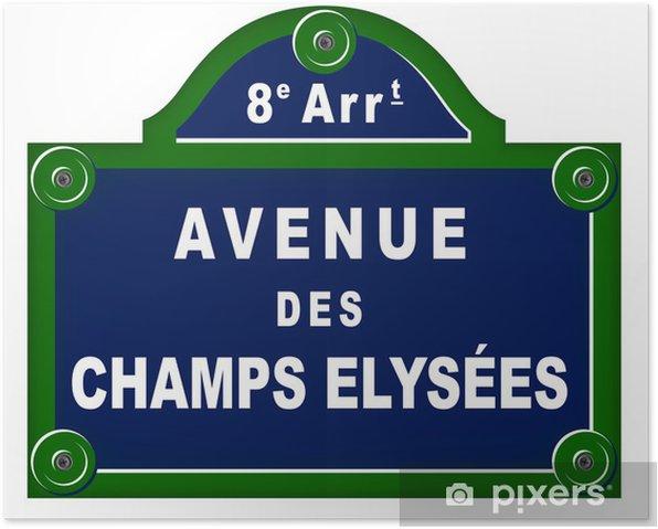 Poster Piastre viale parigini - Città europee