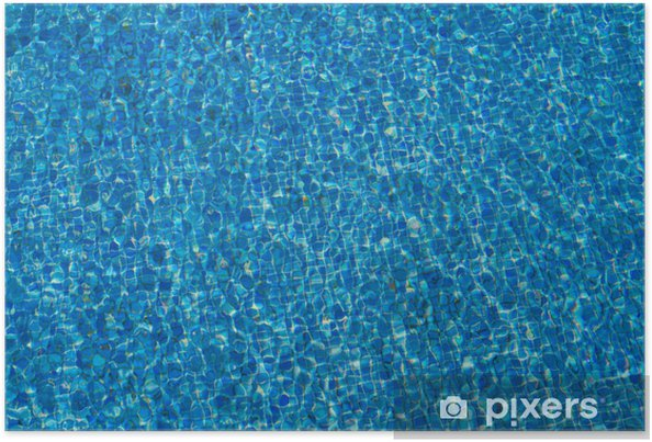 Poster piastrelle per piscine blu pixers viviamo per for Adesivi per piscine