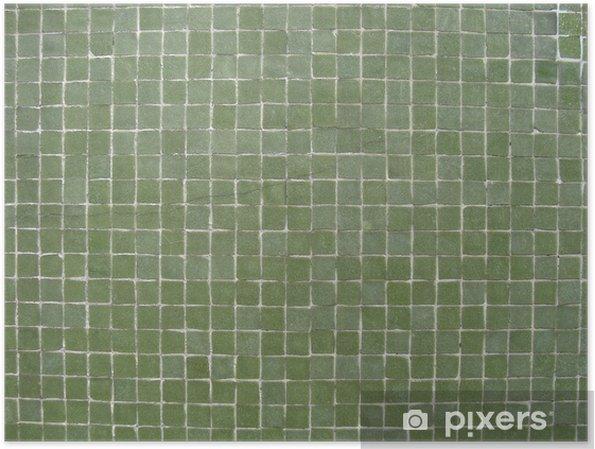 Poster piccole piastrelle verdi u2022 pixers® viviamo per il cambiamento