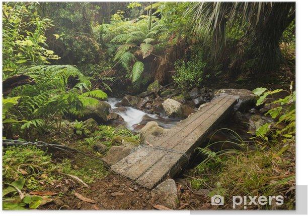 Poster Piede Plank Ponte - Fiori