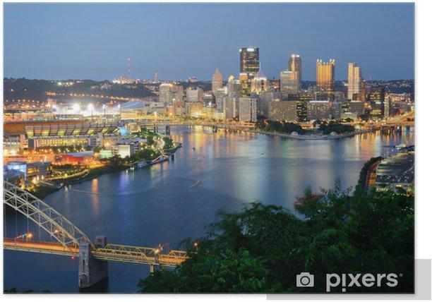 Poster Pittsburgh Skyline - Themen
