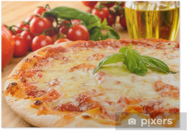 Poster Pizza Daisy, close-up, selektiven Fokus - Themen