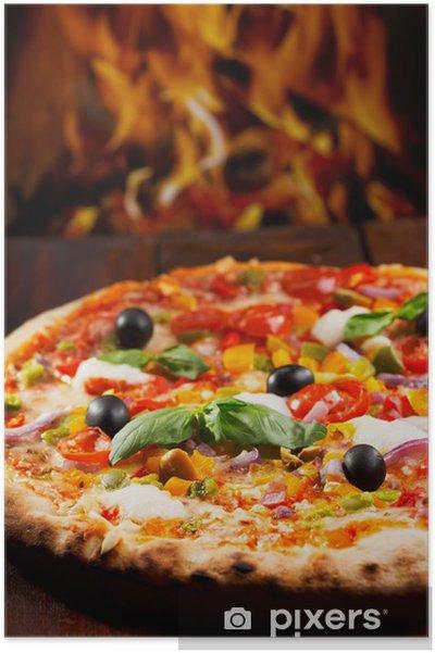 Poster Pizza mit Gemüse - Themen