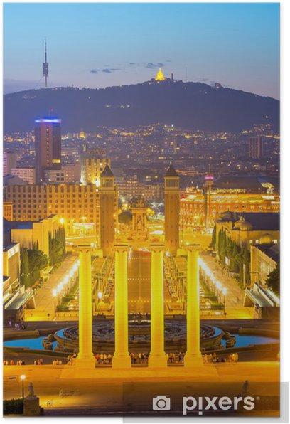 Poster Plaza España. Barcelona - Themen
