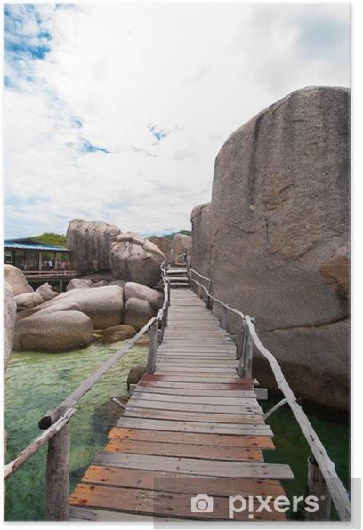 Poster Ponte di Legno Con Roccia - Infrastrutture